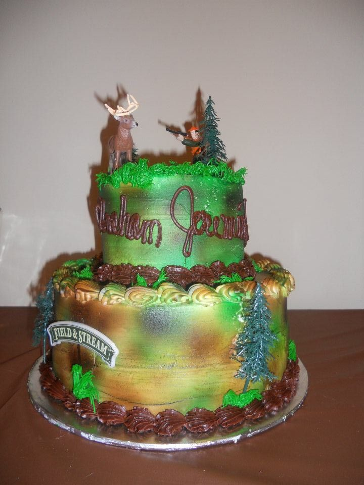 Hunting Cake Purchased Walmart In 2019 Cake Decorating