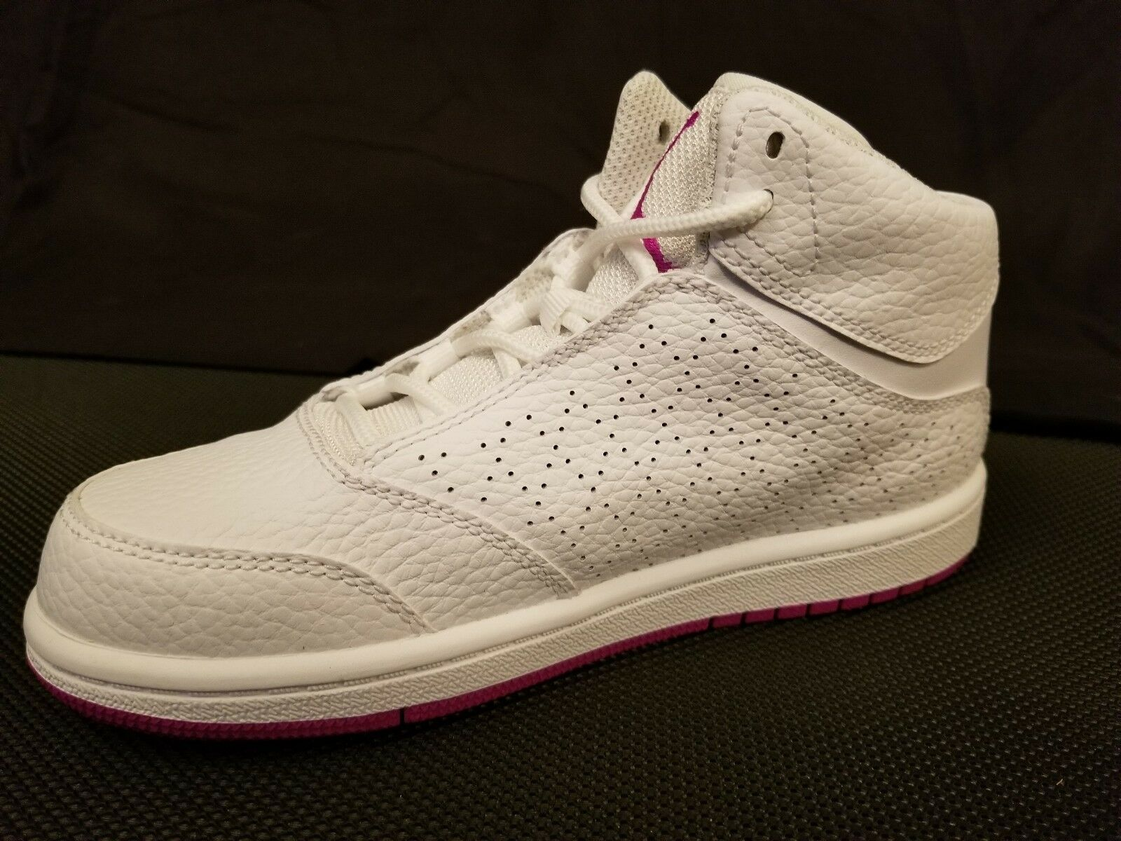 Nike Air Jordan 1 Flight 5 Prem GP White//Purple Shoes Girl/'s//Kid/'s Size 2Y