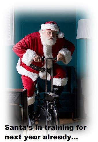 What a funny idea, that Santa has to train! :)
