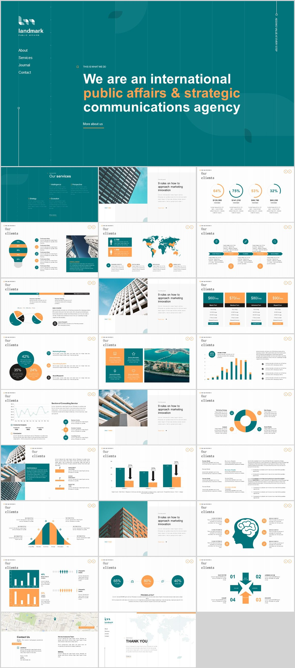 27 company cool introduction chart powerpoint template on behance