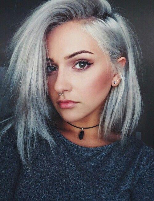 grey tumblr Silver hair