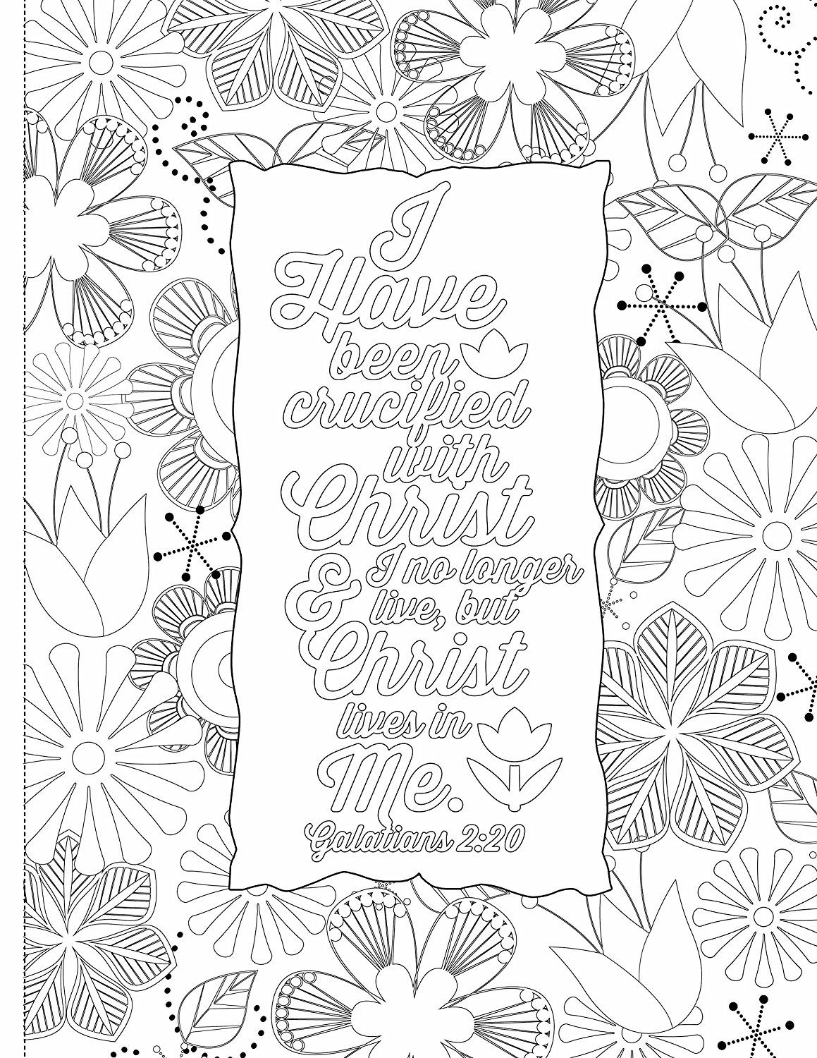 Inspiring words coloring book verses from the bible you can