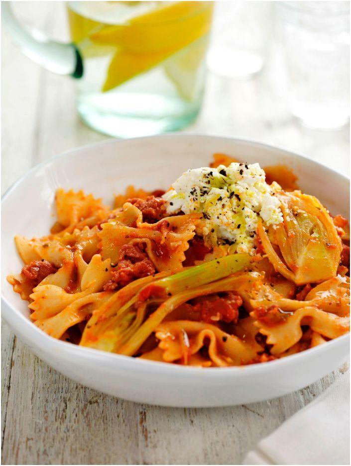 Pasta with Sausage, Fennel & Ricotta (Farfalle Deliziose) #pasta #tomato #cirio #recipe
