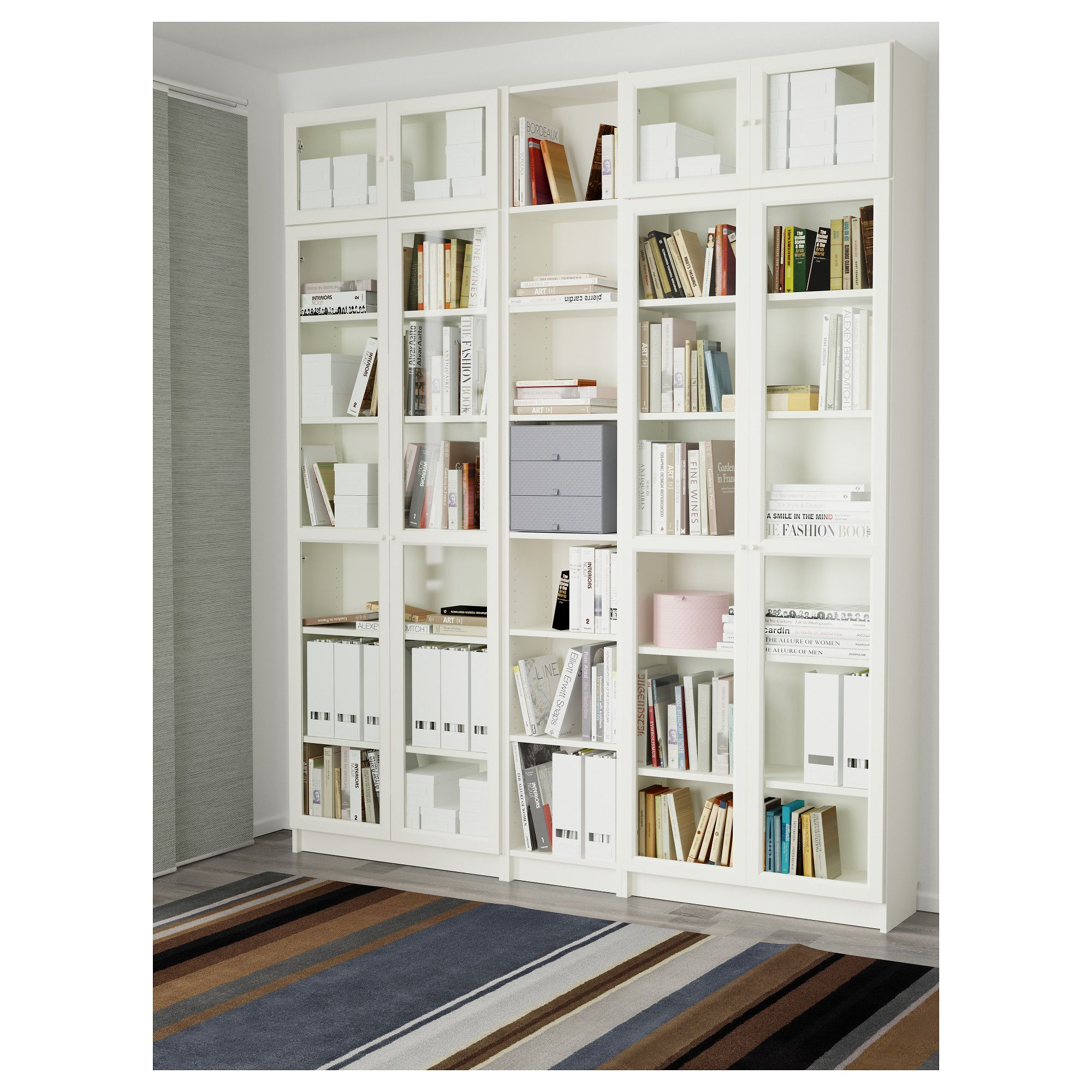 ikea billy oxberg bookcase white