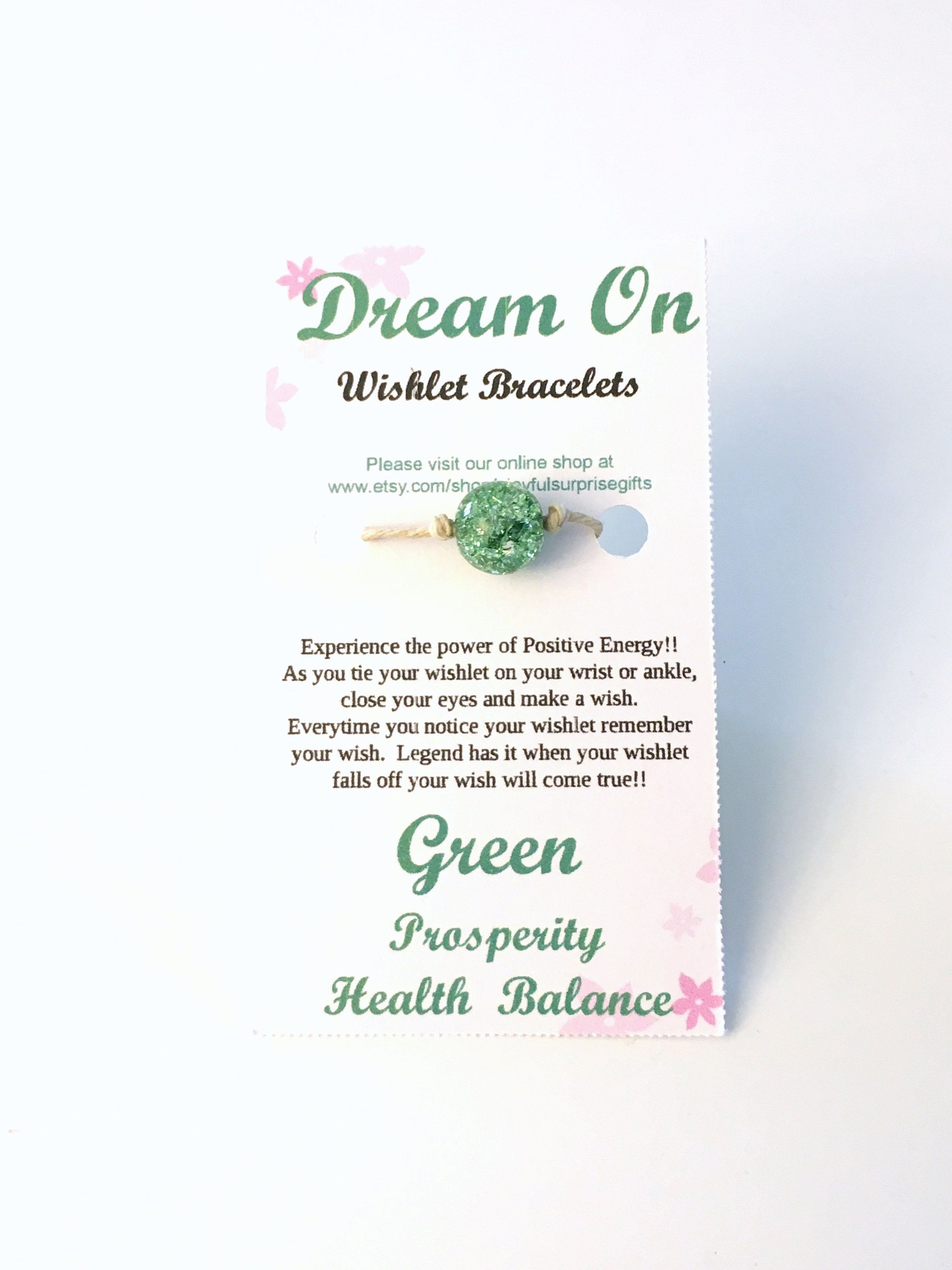 d7ca73920ac9c Green Wishlet Bracelet, Make a Wish Gift for Best Friend, Anklet ...