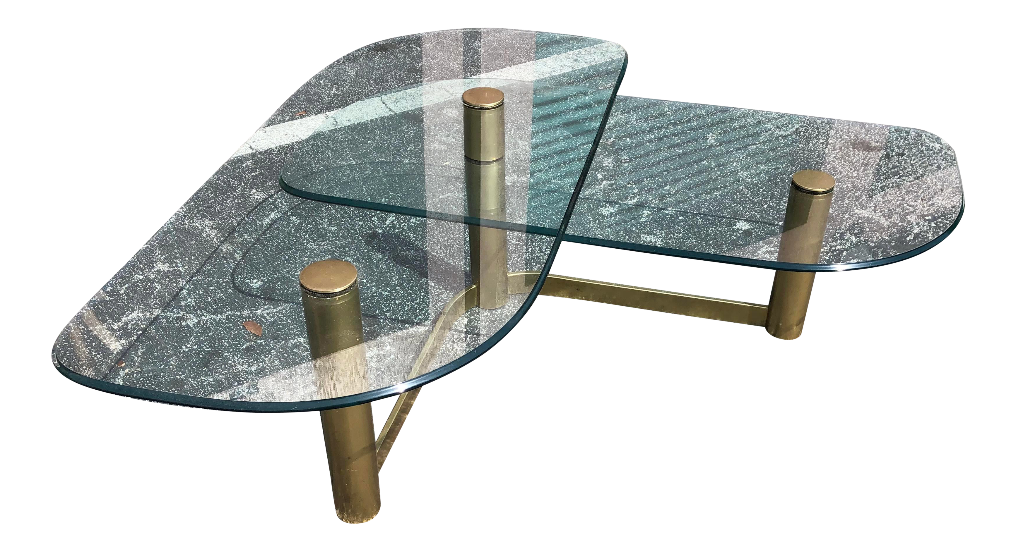 Contemporary Pace 2 Tier Glass Coffee Table Glass Coffee Table Coffee Table 3 Tier Coffee Table [ 1887 x 3470 Pixel ]