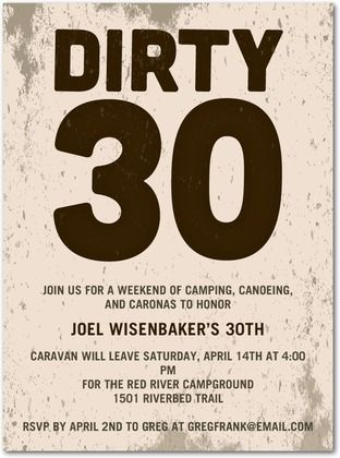 Adult birthday party invitations dirty thirty by tiny prints adult birthday party invitations dirty thirty by tiny prints filmwisefo Image collections