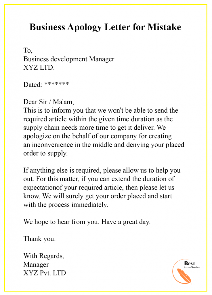 Apology Letter To Customer For Mistake from i.pinimg.com