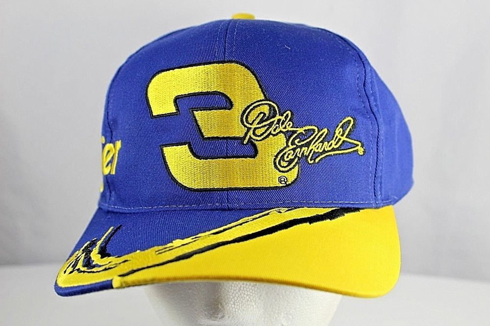 848f64ca4a769 Dale Earnhardt  3 wrangler Jeans Gm Goodwrench Blue Yellow Baseball Cap  Snapback  Chase  EarnhardtGanassiRacing