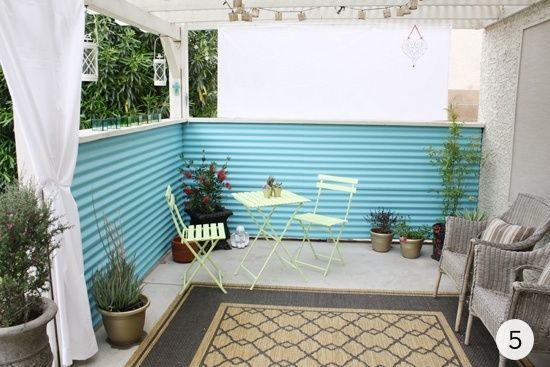 Roundup 9 Diy Metal Projects To Try Outdoor Living Space Corrugated Metal Wall Corrugated Metal Fence