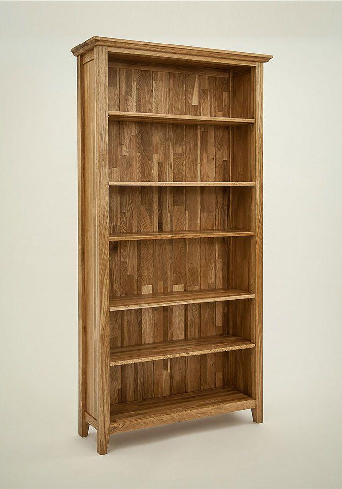 Hereford Rustic Oak Bookcase