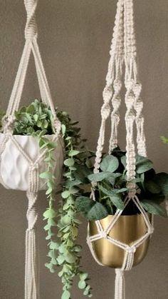 Natural Macrame Plant Hangers