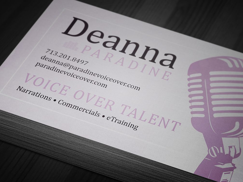 Paradine voice over business card designed printed by paradine voice over business card designed printed by alphagraphics sugar land reheart Images