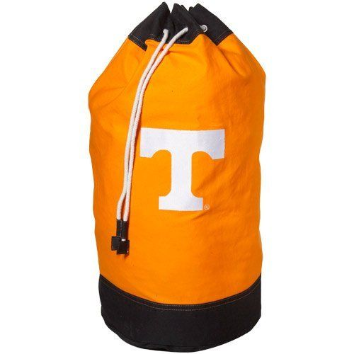 "NCAA Tennessee Volunteers Tennessee Orange Laundry Bag by Football Fanatics. $32.95. Heavy-duty materials for durability. Quality embroidery. Perfect for travel or at home. 32"" long, 16"" in diameter. Drawstring closure. Oversized 100-percent Collegiate Delight laundry bag embroidered with your favorite team's logo is both lightweight and durable making it convenient for lots of different uses. Made of 100-percent cotton, drawstring bags are 16 x 32-inches. Great..."