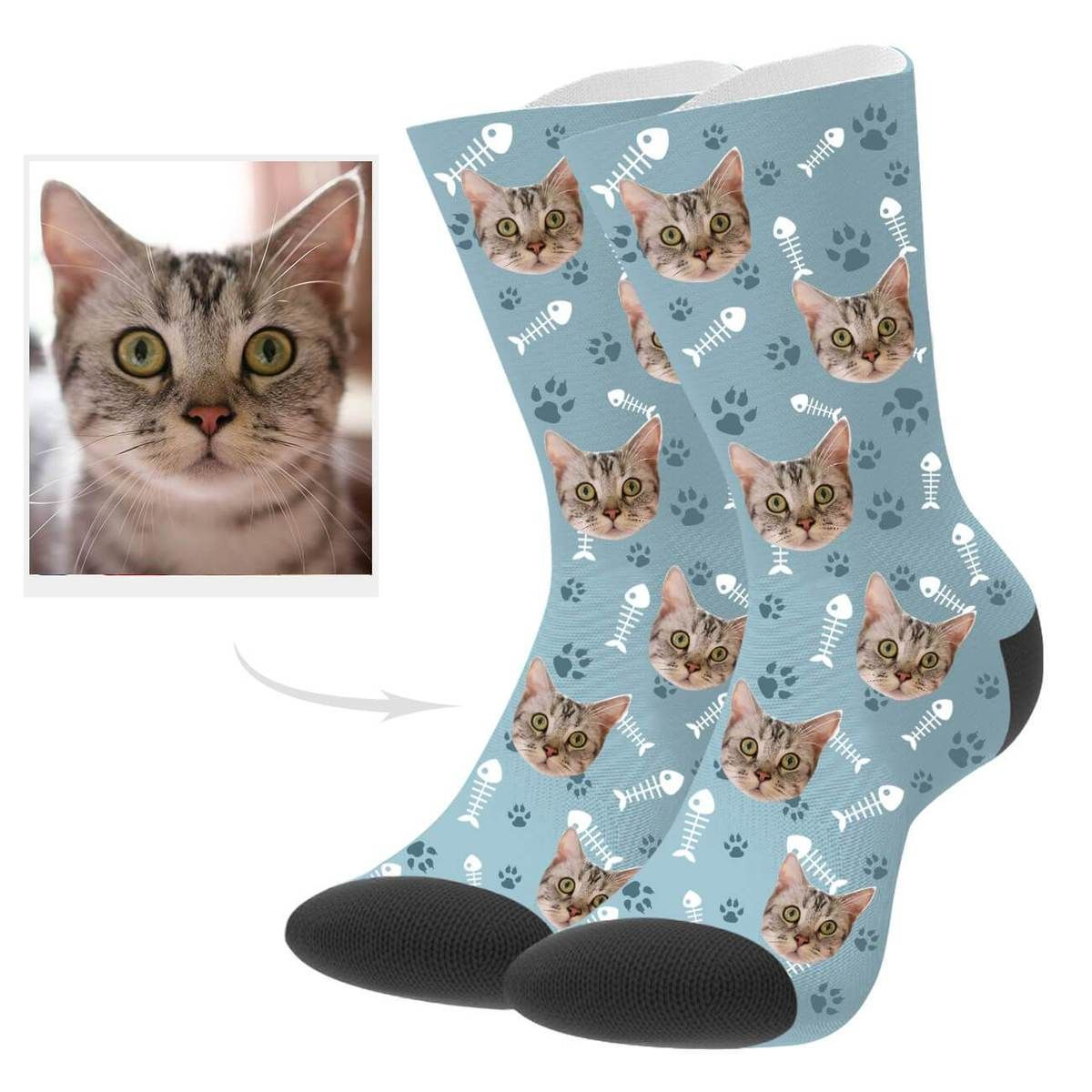 Customized Cat Photo Socks Socks, Cute pattern, Sock crafts