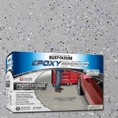 Rust Oleum Epoxyshield 2 Gal Silver Gray Semi Gloss Professional Floor Coating Kit Case Of 2 203373 T Floor Coating Rustoleum Garage Floor Epoxy Rustoleum