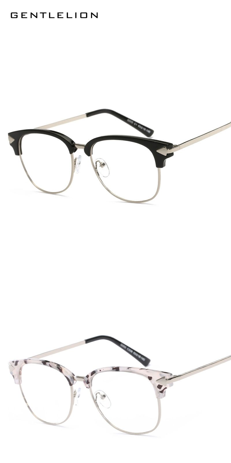 0011e76ebe Fashion Half Frame Brand Design Vintage Grade Lazy Eyewear Frames Optical  Frame Eye Glasses Frames for