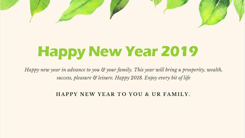 Happy New Year 2019 In Advance To You And Your Family Happy New Year Quotes Happy Quotes Quotes About New Year