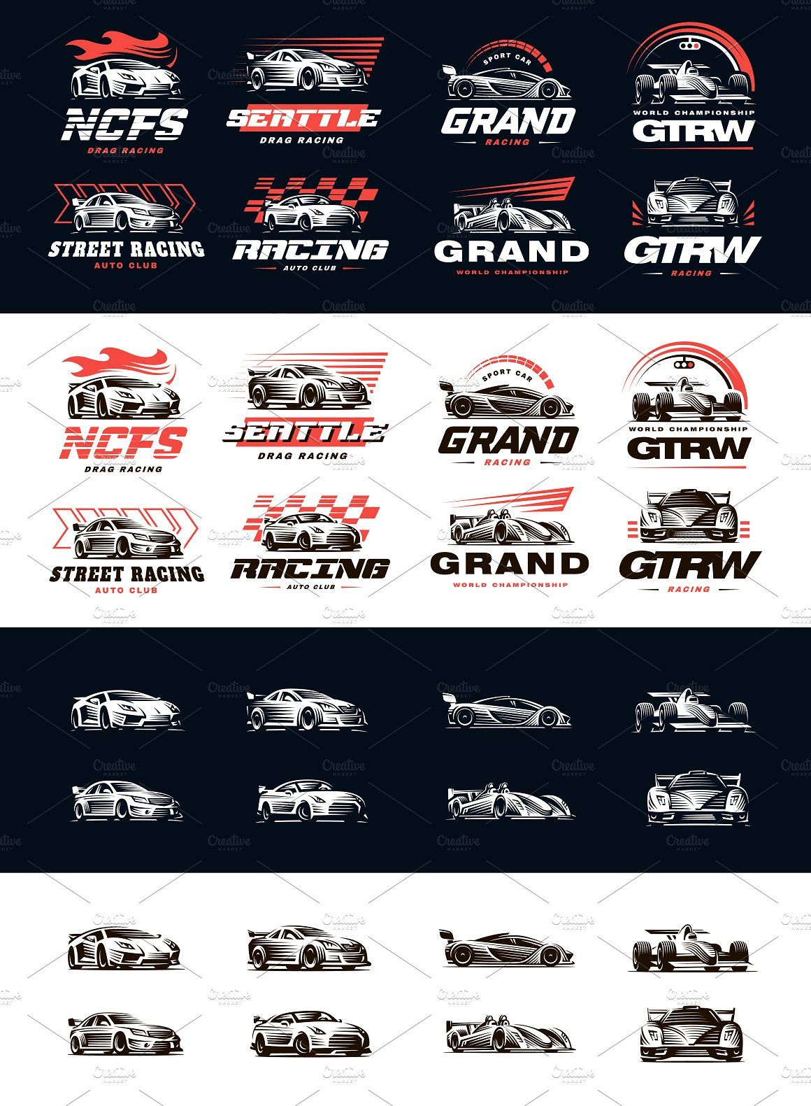 Sport Cars Logo Set Sports Car Logos Car Logos Logo Set