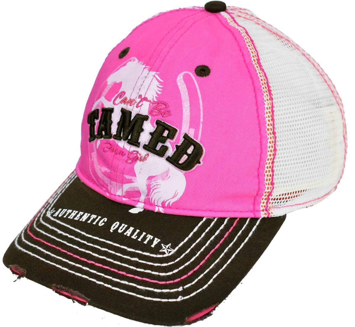 9945833c76430 Feminino Farm Girl Pink com Tela e Fechamento em Velcro Boné importado Farm  Girl em 100