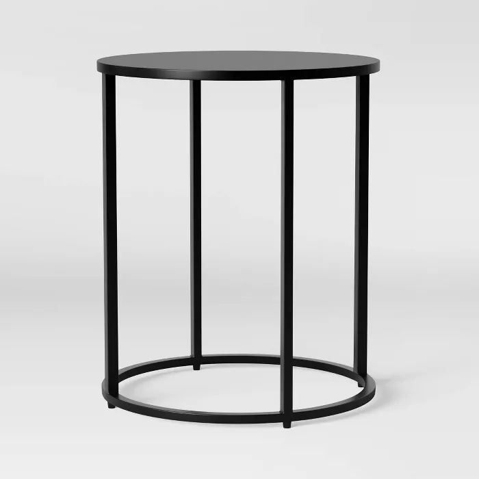 Glasgow Round Metal End Table Black Project 62 Nel 2020