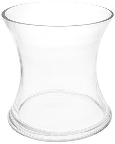 Wgv Clear Short Hurricane Concaved Glass Vase 6inch Click Image