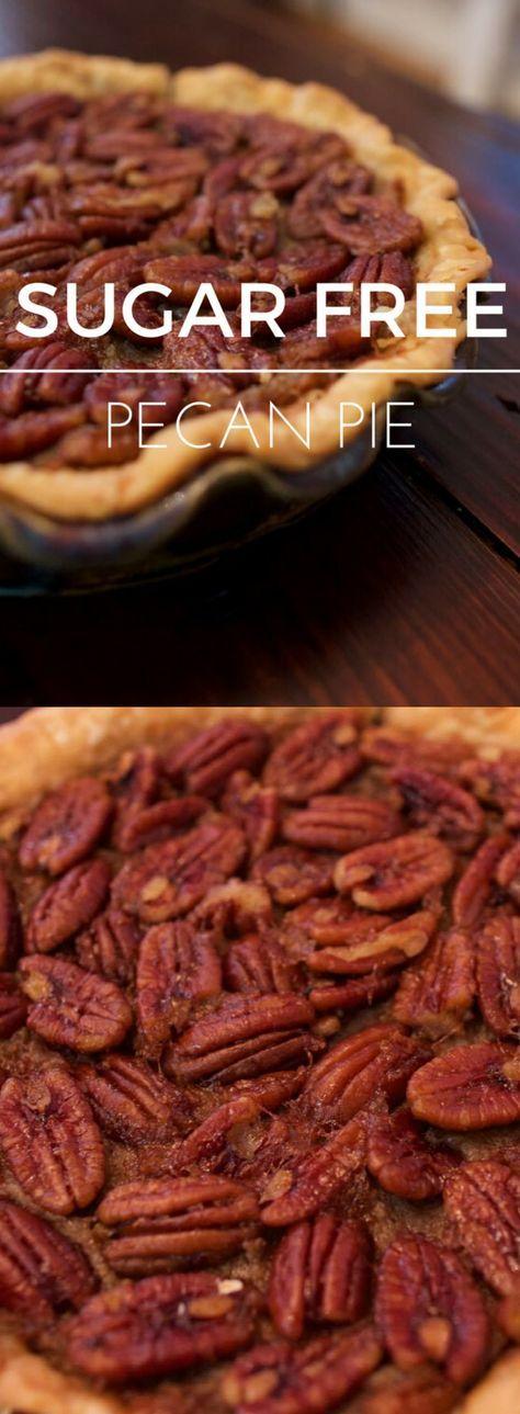 super-easy-sugar-free-pecan-pie-recipe #sugarfreedesserts