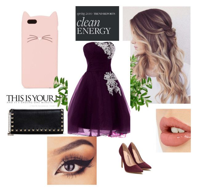 """Tenue de bal :)"" by tinafangirl on Polyvore featuring mode, Charlotte Tilbury, Kate Spade et Valentino"