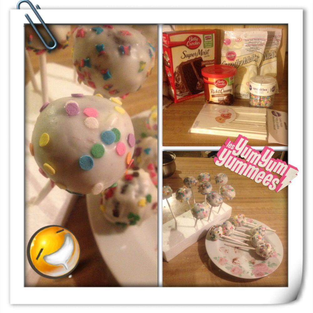 *YUMMY CAKE POPS* Cake Pop Supplies Devils Food cake
