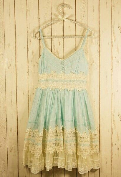 Pretty blue dress with lace