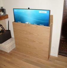 Syst me d l vateur pour crans plats tv qui s int gre dans tous types de meubles tiny house for Meuble qui cache la tv