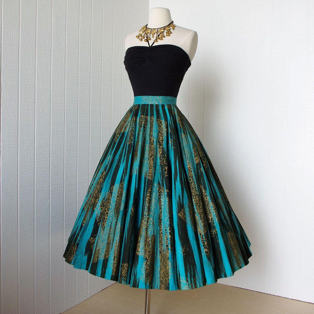 Vintage us skirt fabulous maya de mexico original hand