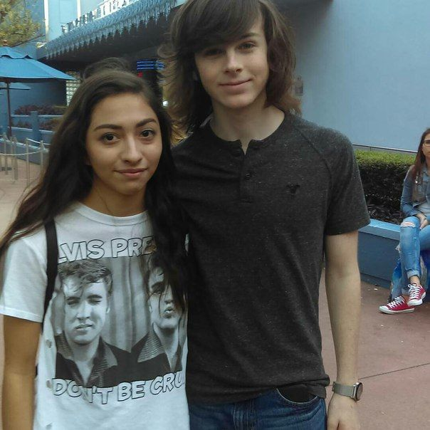 Chandler Riggs at Disney World today!