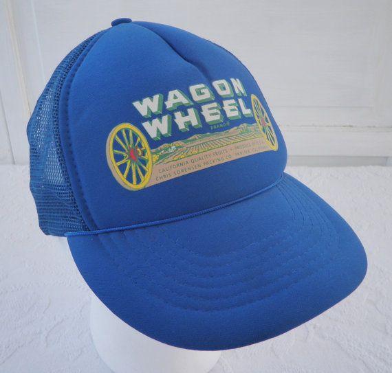d4019f25064 Vintage Wagon Wheel Produce Farm Fruit Snapback by TraSheeWomen  wagonwheel   snapback  truckerhat  producefarm  trasheewomen