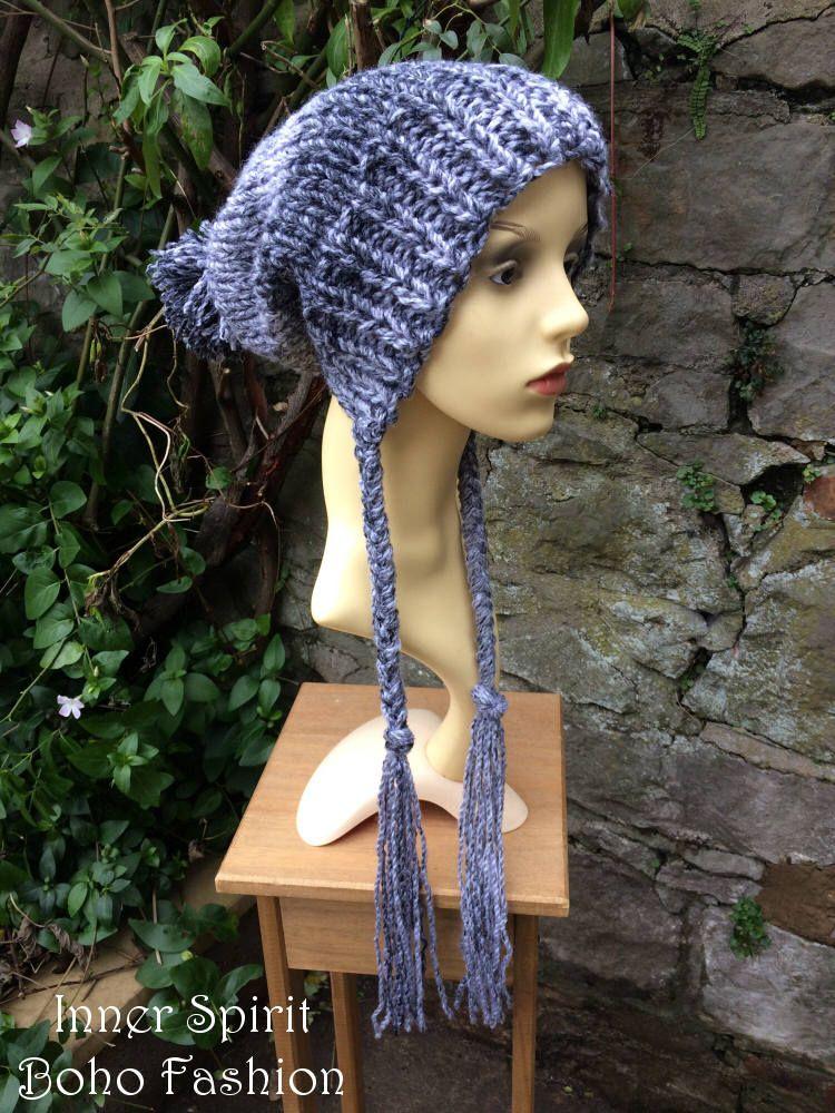 1703ff0881f Grey Tones Split Brim Slouchy Hat