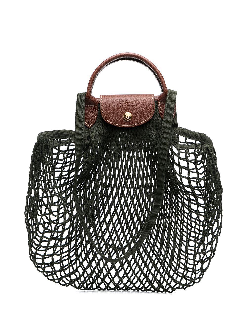 Longchamp Le Pliage Filet Pure Cotton Tote Bag - Farfetch in 2021 ...