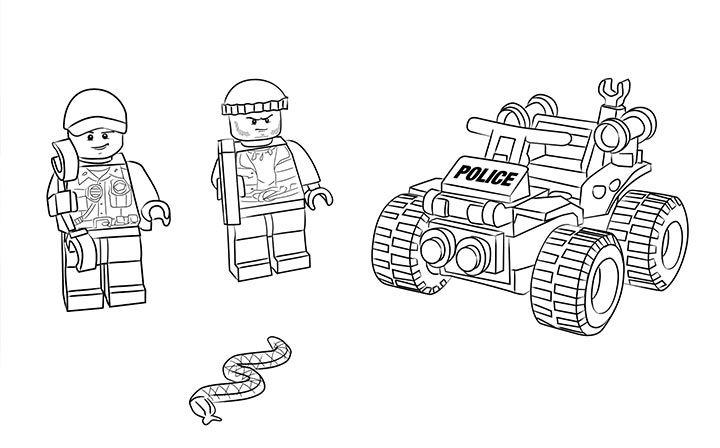 Lego Coloring Sheet 60066 Swamp Police Starter Set Lego
