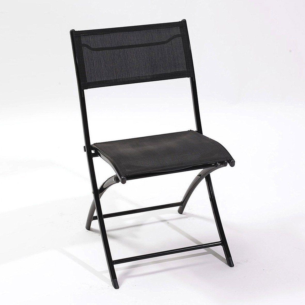 Chaise De Jardin En Aluminium Noir Chaise De Jardin Chaise