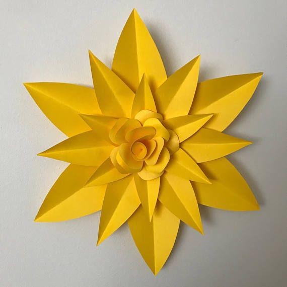 pdf petal 4 paper flower template with base digital version