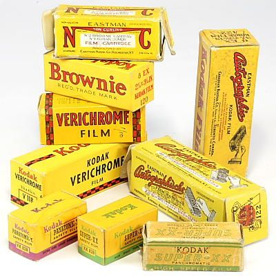 Mentor Coumpur Reflex Model 310 - 1929 German Box Camera w ...  |Old Camera Film Roll Boxes