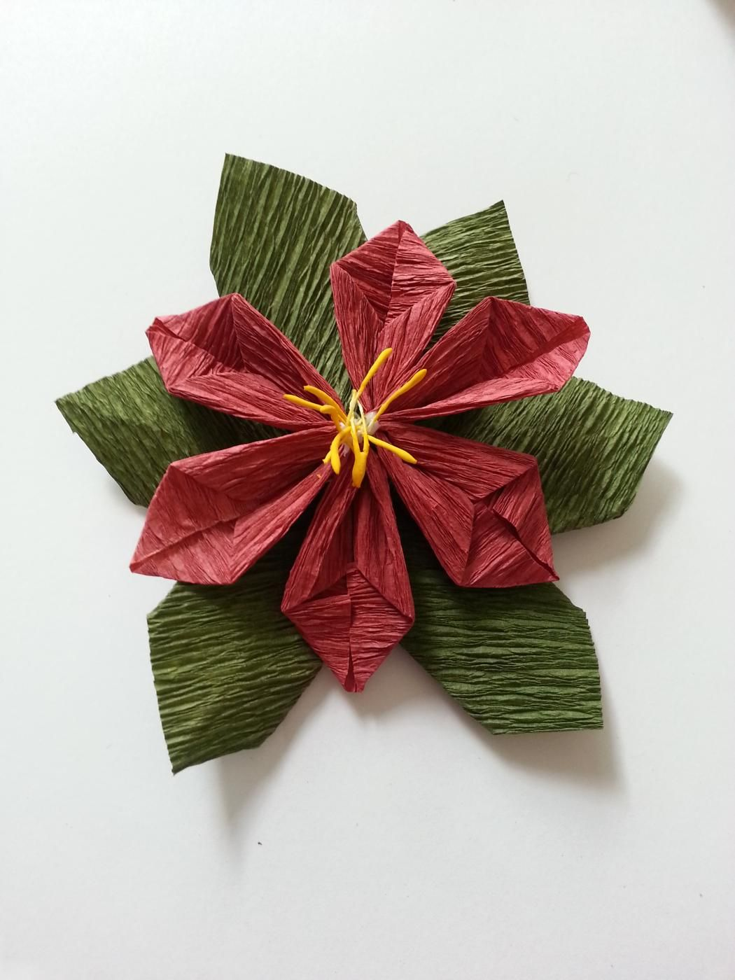 Diy Paper Poinsettia Flower Poinsettia Flower Diy Paper And