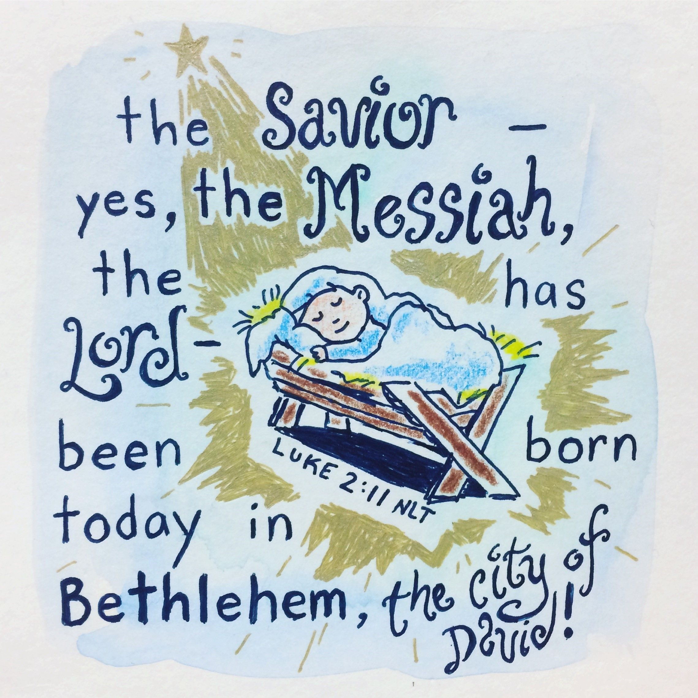 Stencil Christmas Sign A Savior Is Born Bethlehem Star