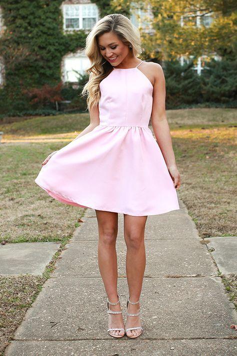 Rose Quartz Fit & Flare Dress | Pinterest | Prom heels, Fit flare ...