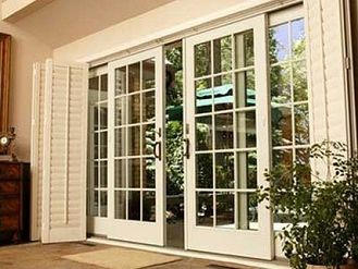 Sliding French Doors Also The Shutters When It Was Hot We Would