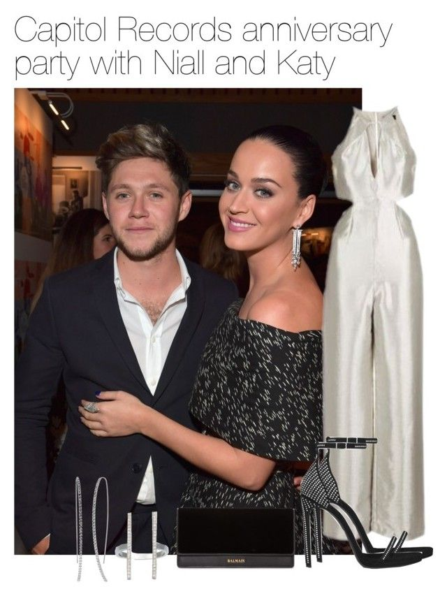 """Capitol Records party with Niall Horan and Katy Perry"" by werehazza ❤ liked on Polyvore featuring Topshop, Yves Saint Laurent, Balmain and Ileana Makri"