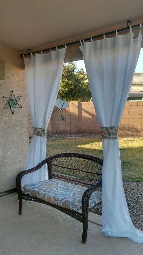 Outdoor Curtains With Matching Cushion An Tie Backs Fabric From