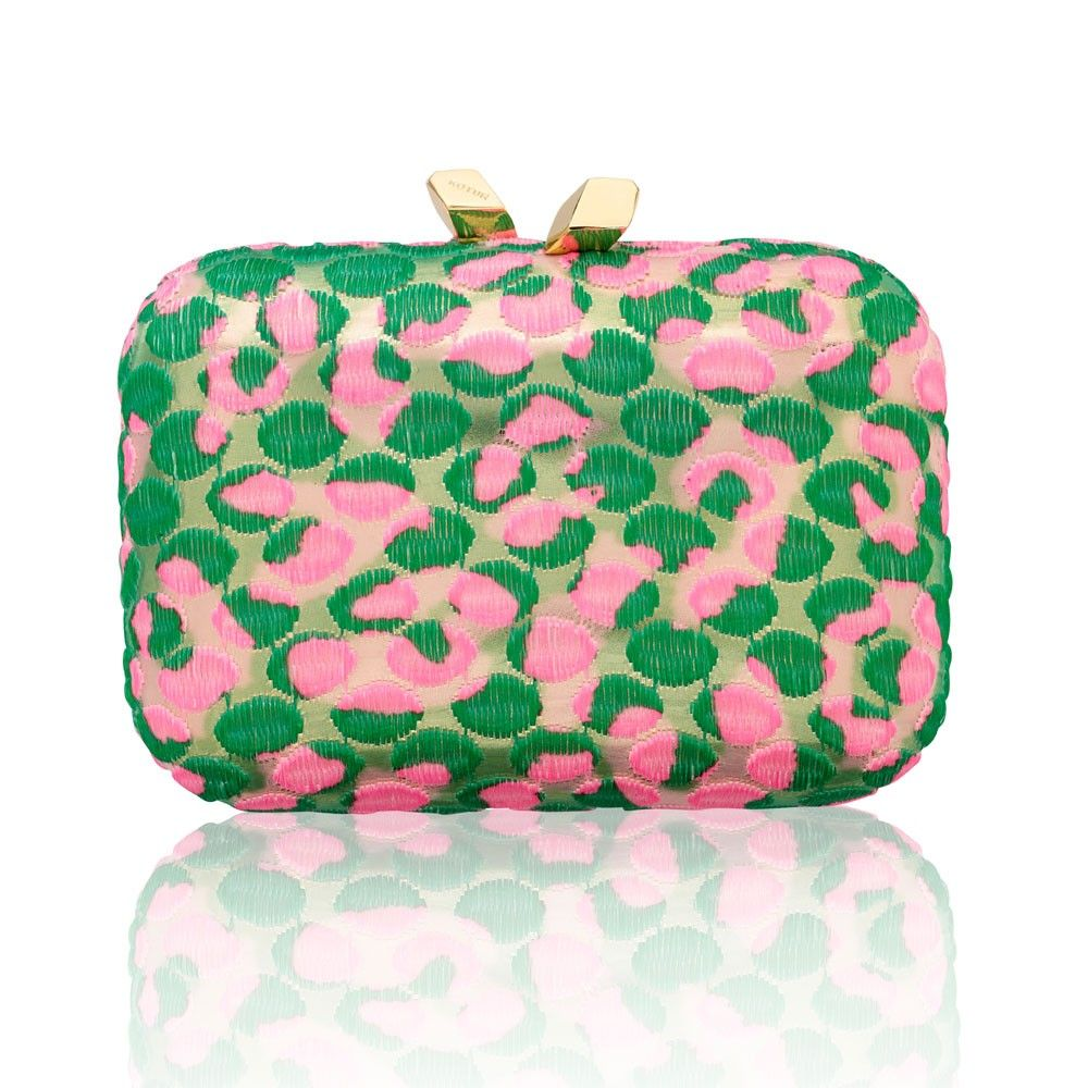 Pink and green box clutch | Pink and Green bags | Pinterest ...