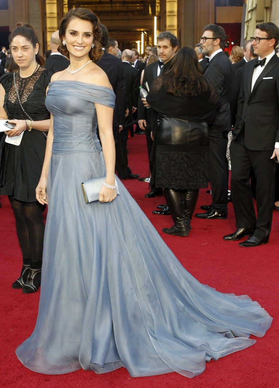 Actress Penelope Cruz poses at the 84th Academy Awards in Hollywood, California, February 26, 2012.