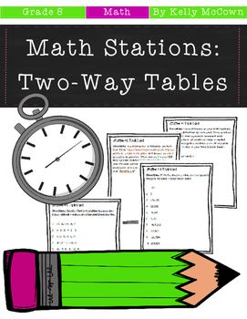 Middle School Math Stations: Two-Way Tables