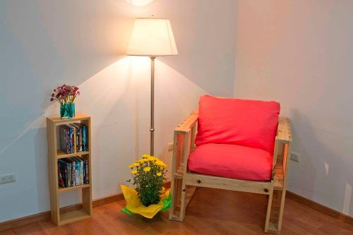 Muebles de madera reciclada tarima palet mesa sala for Muebles con madera reciclada